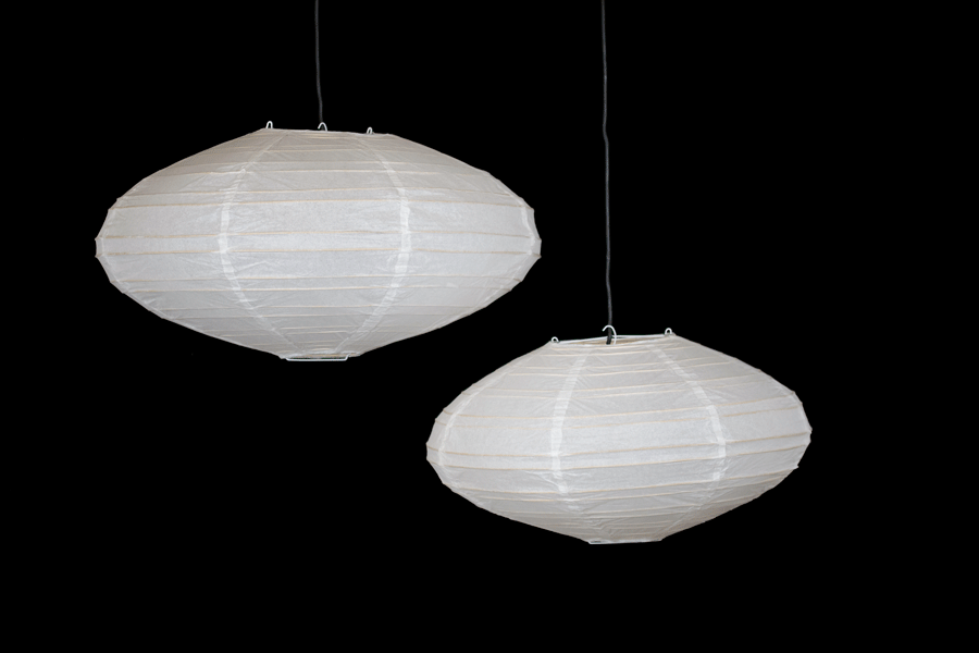 Rispapirlamper oval Ø48cm   Japanske Danmark