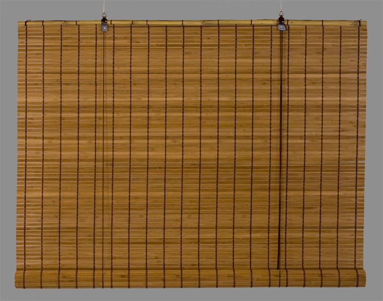bambus rullegardin mørk