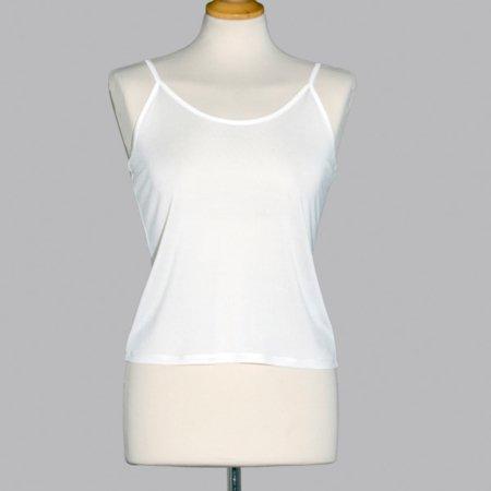 Skøn camisole (strop undertrøje) i 100% silke, let og behagelig, føres i sort og hvid