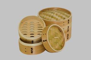 asiatisk dampkoger i cedertræ, smukt forarbejdet og fint udført