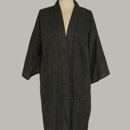 kimono Chidori, 3/4 lang, sort, udført i 100% bomuld