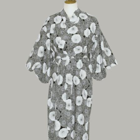 kimono Chrysanthemum, lang, udført i 100% bomuld