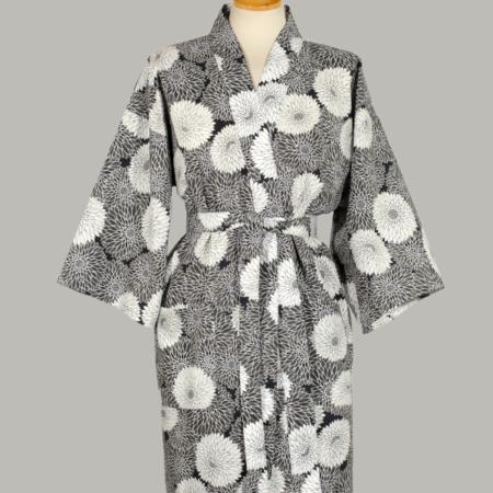 kimono Chrysanthemum, kort, udført i 100% bomuld