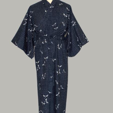 kimono Dragonfly, lang, udført i 100% bomuld