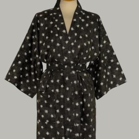 kimono Igeta, kort, er helt traditionelt udført i 100% bomuld