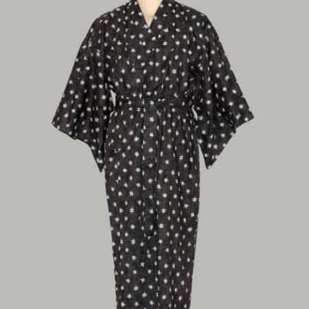 Denne kimono Igeta, lang, udført i 100% bomuld