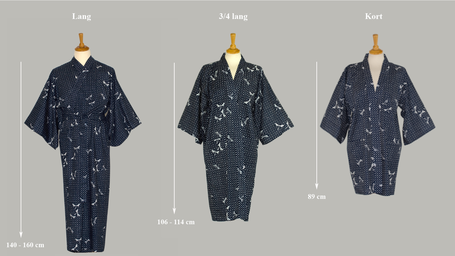 Guide til at forstå opdeling i kimono længder