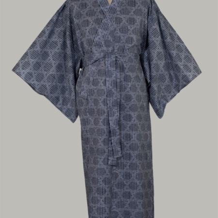 kimono kagome, lang, er lysblå og udført i 100% bomuld