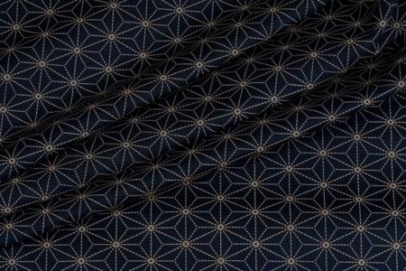 bomuldsstof med japansk mønster asanoha