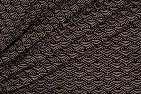 bomuldsstof med japansk mønster waves