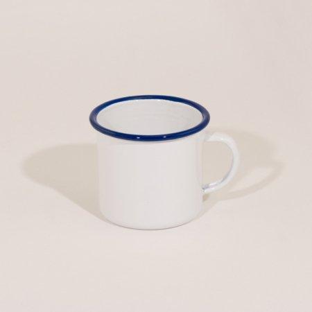 emalje krus i god kvalitet farven hvid med blå kant