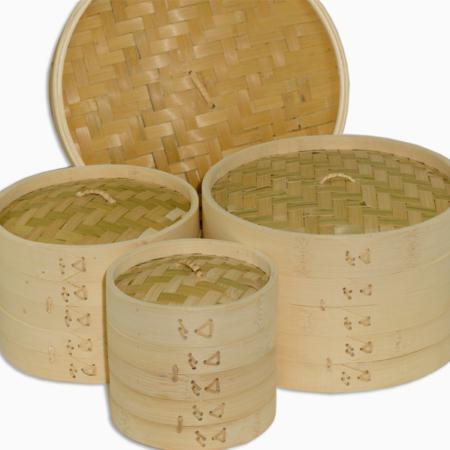 asiatisk dampkoger i bambus