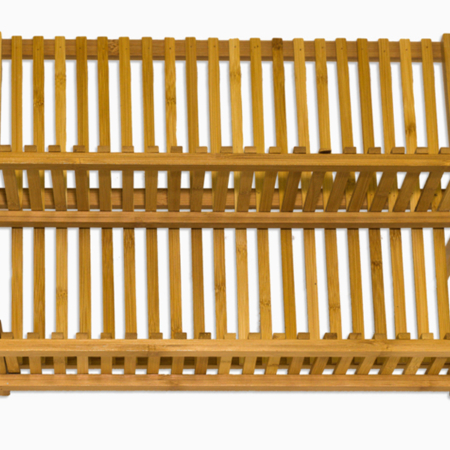 opvaskestativ i bambus smukt forarbejdet